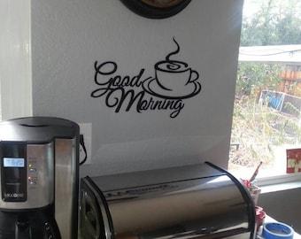 Good Morning Coffee , Wall Art , Good Morning , Art Decor