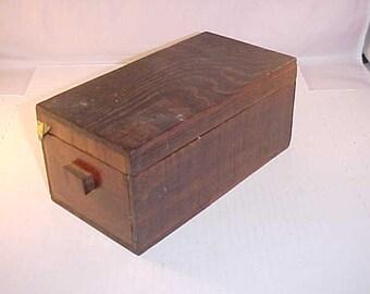 Small Wood Hinged Lid Box