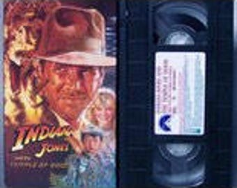 INDIANA JONES and the Temple of Doom VHS Movie Film Video Tape