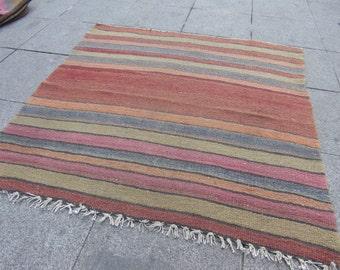 turkish kilim vintage, kilim rug, home rug, moroccan rug, beni ourain rug, 449