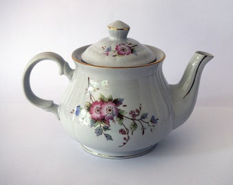 Pretty vintage china teapot with floral design