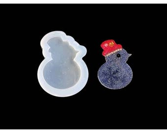 Snowman snow creations 59mm silicone mold resin polymer clay
