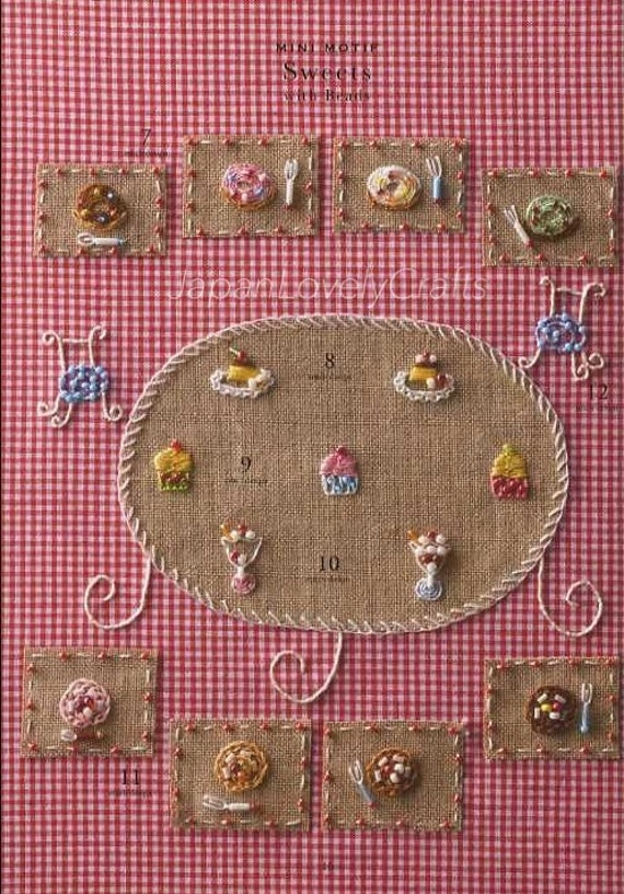 Bead embroidery stitch samplers japanese craft book for