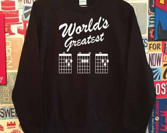 World's Greatest Dad Sweatshirt. Guitar Dad Sweatshirt. Guitar Sweatshirt. Dad Gift. Dad Sweatshirt. Best Dad Sweater. Father's Day Gift.