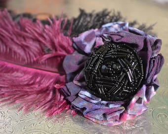Feather Fascinator READY TO SHIP