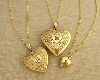 Heart locket Etsy