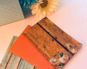 Pocket Size Handmade Wood Grain Travelers Notebook Inserts