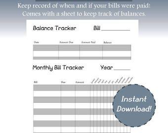 monthly bill sheet