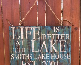 Outdoor Lake Decor, Cabin Decor, Signs, Home Decor, Rustic Decor, Wood Signs, Personalized Signs, Housewarming, Gifts
