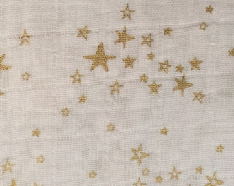 Starry Night Metallic Double Gauze Embrace by Shannon Fabrics