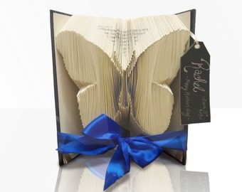 Butterfly Book Art Folding Pattern Template - Bookami - 481 Pages/241 Folds - Plus Free Book Folding Tutorial - Instant Download PDF