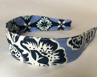 Comfortable Headband-- Washable, Reversible-- Secret Garden by Sandi Henderson