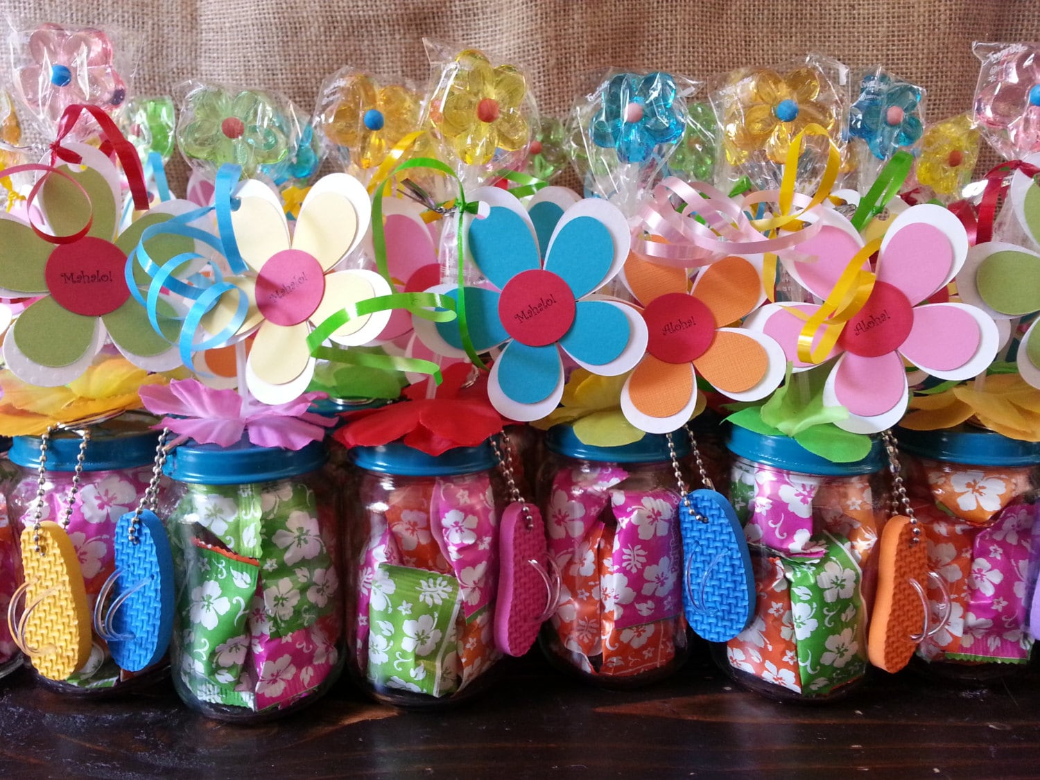 Hawaiian Luau Party Favors Baby Food Jar
