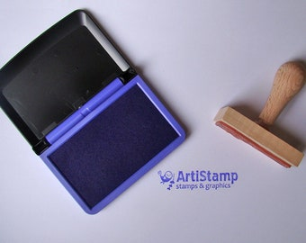 Purple COLOP Micro 1 INK PAD, Dye Ink Pad, Craft Ink, Stamp Pad, Rubber Stamping, 5x9cm