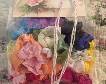 "Crinkled Seam Binding 10 Yards(30 Feet)""""You Pick Color-Most Popular"" 26 Colors To Choose From""-By Not Too Shabby"