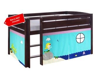 Mermaid theme bed curtain