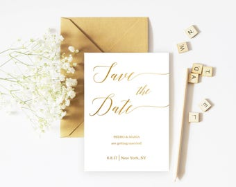 Save the Date template Save the Date Custom Save the Date printable