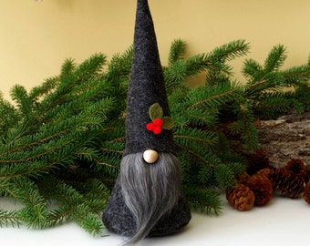 Nordic Gnome ALISTAIR the Joyful, Home Gnome, Scandinavian Gnomes, Birthday Gifts, Hostess Gifts, Traditional Gnome, Year Round Gifts, Santa