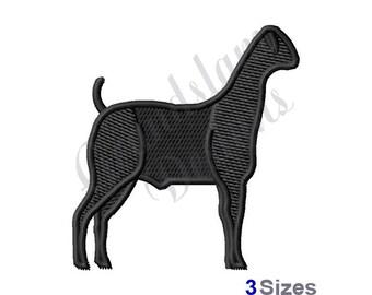 Show Goat - Machine Embroidery Design