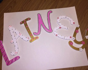 Wall letters for children's room-Lainey
