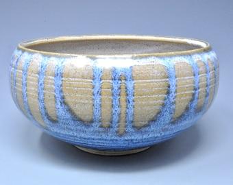 Blue Pottery Serving Ceramic Salad Bowl Pottery Pasta Bowl A
