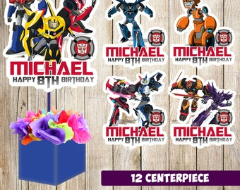 12 Transformers Robots In Disguise centerpieces, Transformers printable centerpieces, Transformers  party supplies, Transformers  birthday