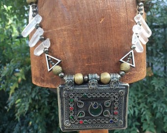 Antique Kuchi Tribal Pendant Necklace