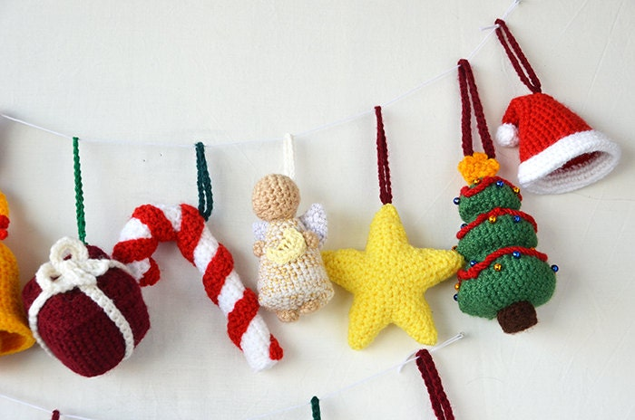 Christmas Ornaments Crochet Pattern - 14 Christmas Tree Decorations ...