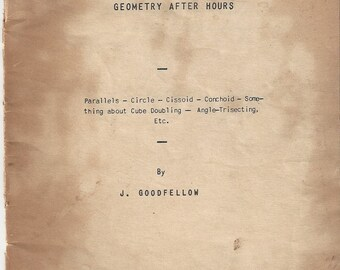 Vintage Geometry After Hours by Joseph Goodfellow Booklet, 1943