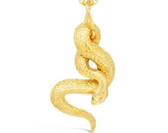 The Emerald Snake Pendant