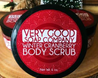 Winter Cranberry Body Scrub // Sugar Scrub // Exfoliating Sugar Body Scrub