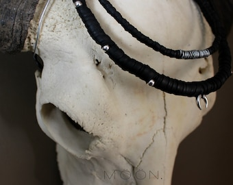 Handmade rubber & claw necklace