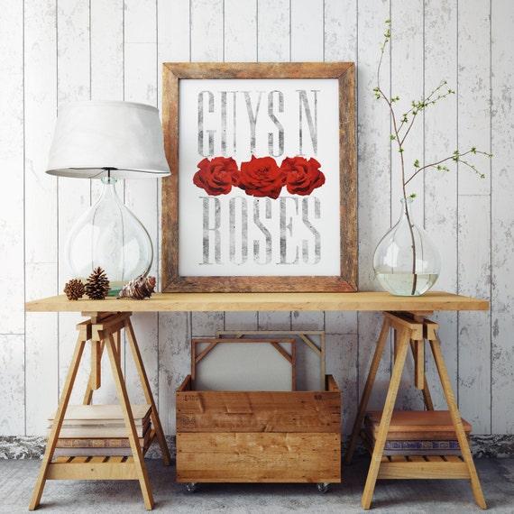 GUYS N ROSES | Wall art | Archival print | giclee prints | poster art | print wall | prints for sale | artwork | art prints | guns n roses