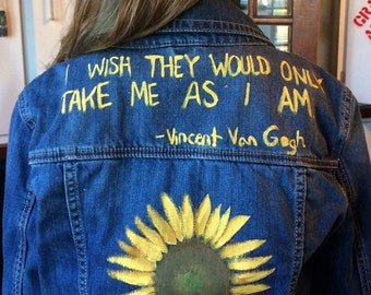 Sunfliwer Van Gogh jacket