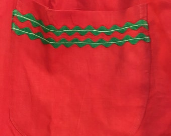 Ladies Red Christmas Apron