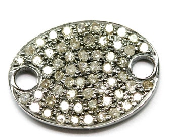White Gold Flat Oval