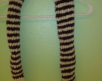 Purple & White Striped Scarf