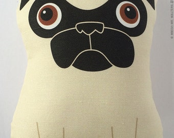 Tricky - Large Fawn Pug Plush