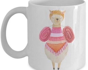 Such A Cute Llama Loaded with Baskets Mug