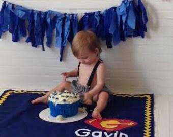 First Birthday Cake SMASH Mat - Hand-painted & Custom