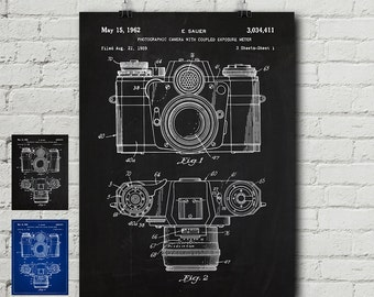 Camera blueprint etsy zeiss camera patent print photography photographer folding camera vintage blueprint malvernweather Images