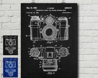 Camera blueprint etsy zeiss camera patent print photography photographer folding camera vintage blueprint wall decor wall art cool gift malvernweather Image collections