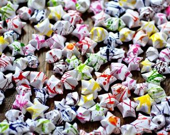 100 Paint Splattered Stars
