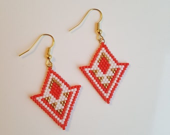 ethnic earrings red/gold
