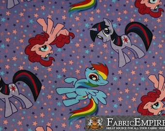 100% Cotton Fabric Quilt Prints My Little Pony Stars Purple Licensed Sold By The Yard N-Cotton-76-OT
