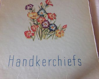 Vintage Sentex Needlecraft Handkerchiefs Set of 5
