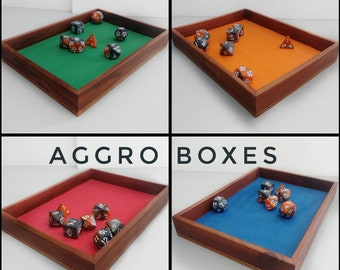 """Dice Tray 5""""x7"""", Tabletop Gaming Wood Tray"""