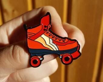 Pin / Pin's : ROLLER SKATE ORANGE
