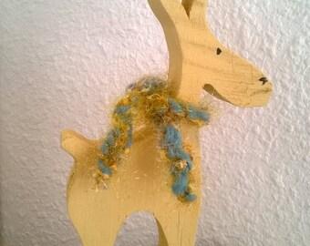 """""""Reindeer Christmas"""" painted wooden fretwork"""