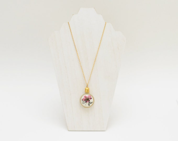 Vintage 1960s Perfume Bottle Necklace - Made in Austria